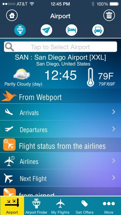 San Diego Airport + Flight Tracker Premium SAN TIJ