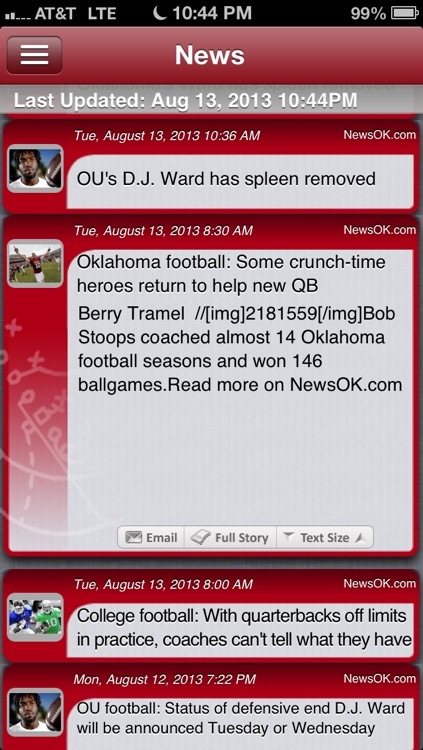 Oklahoma Football Live