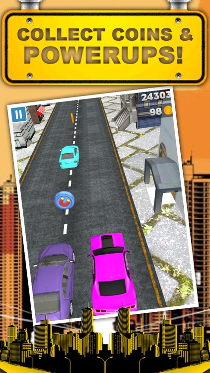 A 3D Downtown City Racing Game FREE screenshot-3
