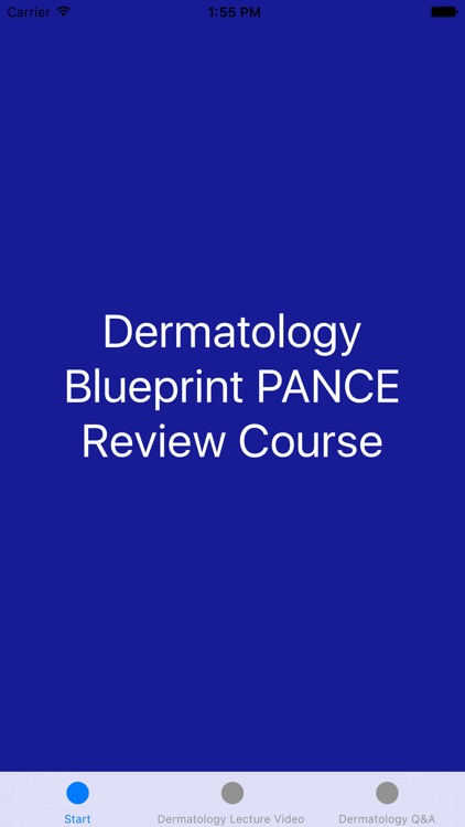 Dermatology Blueprint PANCE Review Course
