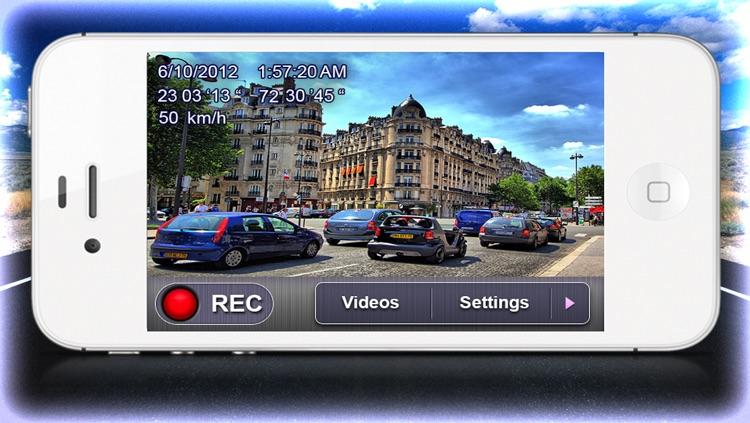 Car Camera DVR - Car Video Recorder. Dashboard GPS Black Box