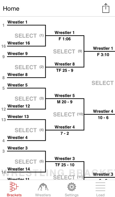 Wrestling Bracket Maker