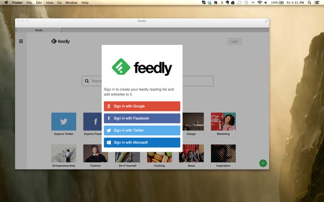 feedly. Read more, know more. Screenshot