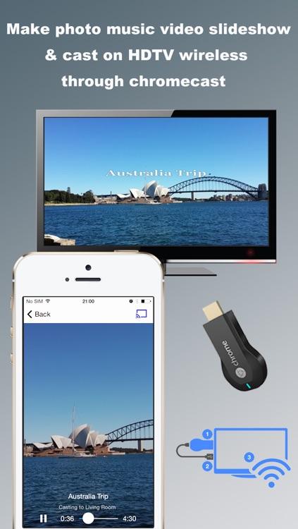 SlideshowCast – Make Photo Video Music Slideshow & Cast on TV through Chromecast