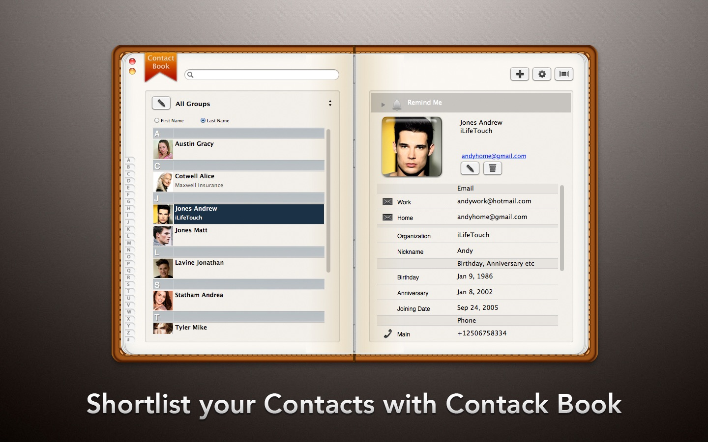 Contact Book on the Mac App Store