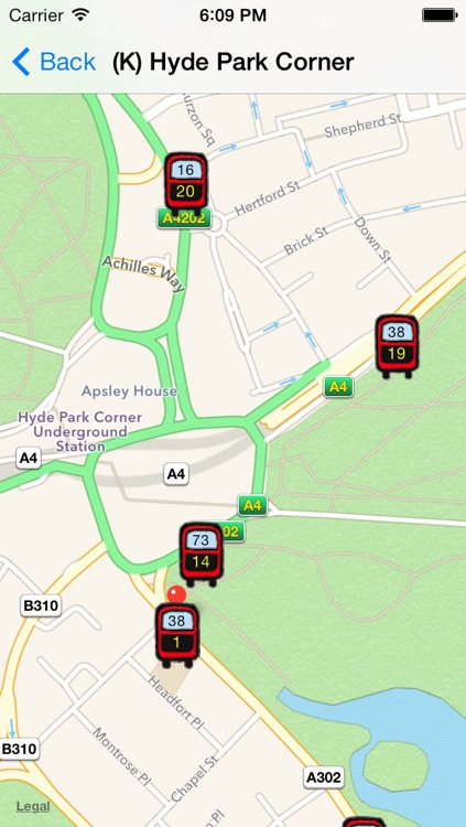 Live London Bus Tracker - TFL Transport Bus London Live Countdown Time, Route and Map