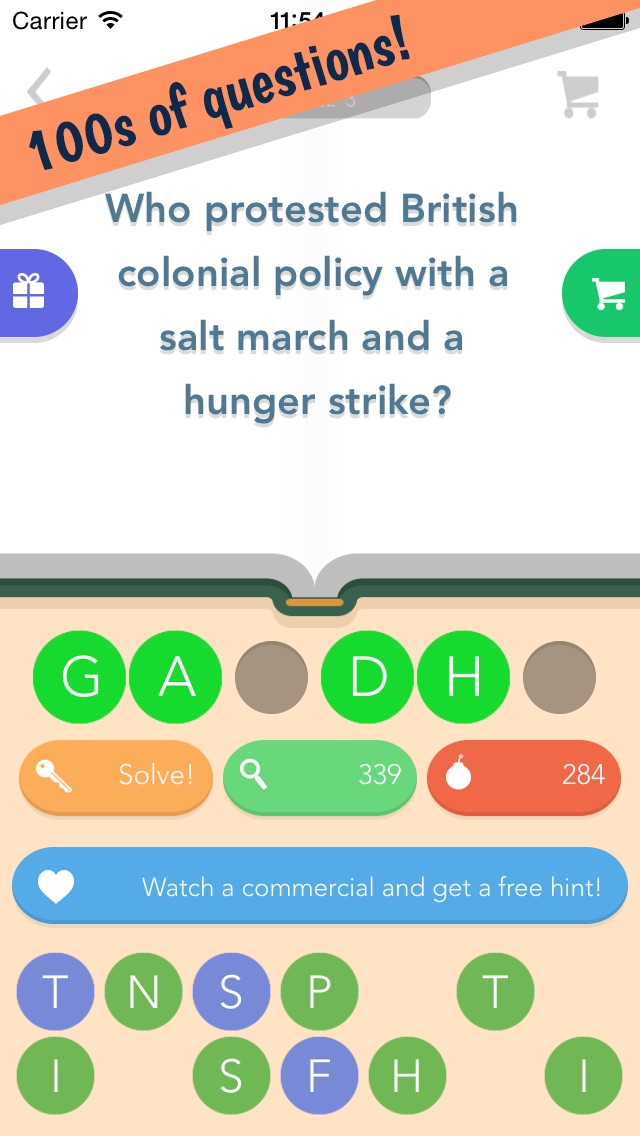 History Quiz - A Trivia Game About Famous People, Places and Events