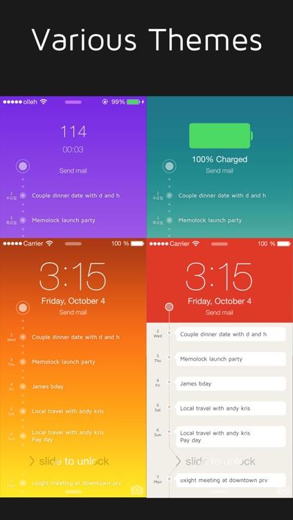 MemoLock - Notes on the lock screen, schedule screenshot-3