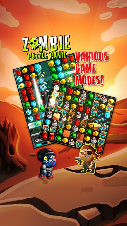 Zombie Puzzle Panic screenshot-2