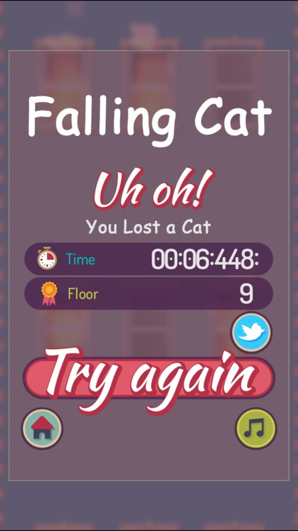 Falling Cat - help the cat land to safety screenshot-3