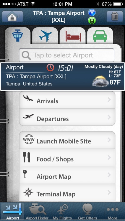 Tampa Airport + Flight Tracker