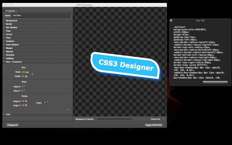 CSS3Designer скриншот программы 1