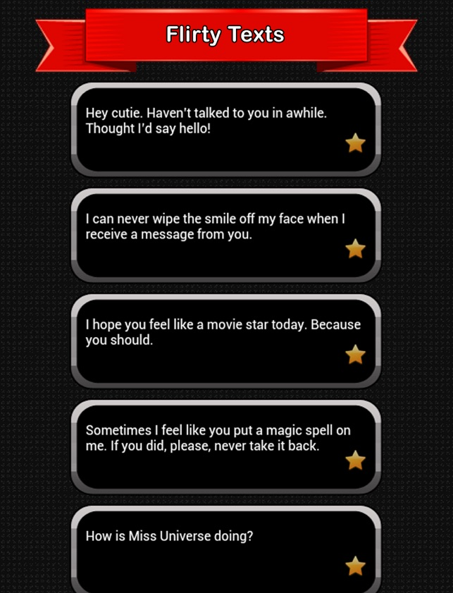 examples of flirty text messages for him