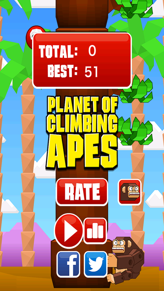 Planet of Climbing Apes - Climb and Avoid the Branches screenshot one