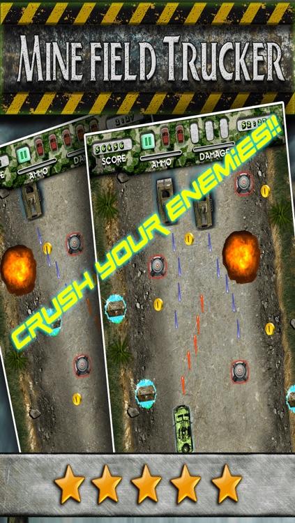 Mine Field Trucker - Real Modern Truck Run Car Racing War Sim Driving Game FREE
