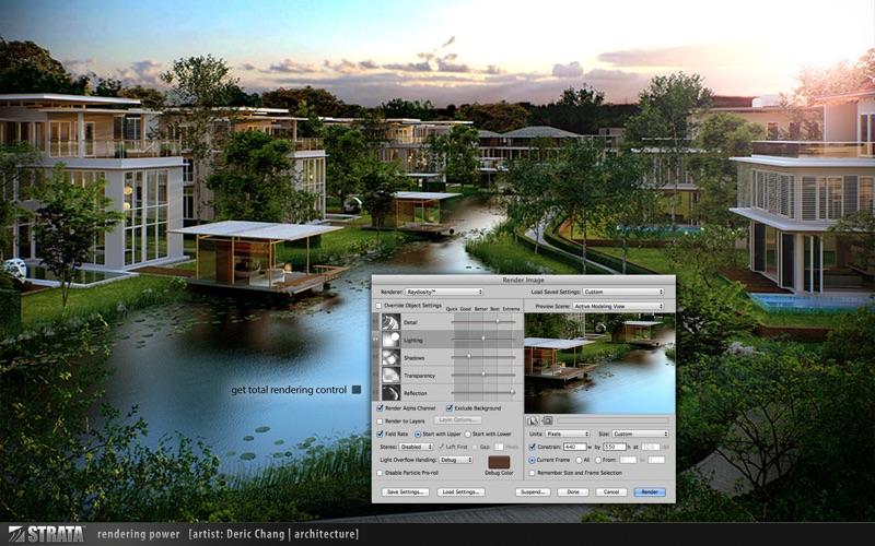 Strata Design 3D CXi скриншот программы 3