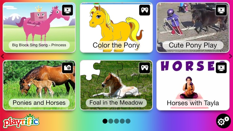 Ponies And Horses Real Cartoon Pony Videos Games Photos Books Interactive Activities For Kids By Playrific By Playrific Inc