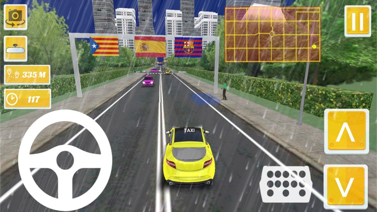 Taxi Driver - Spain Barcelona City 3D screenshot-4