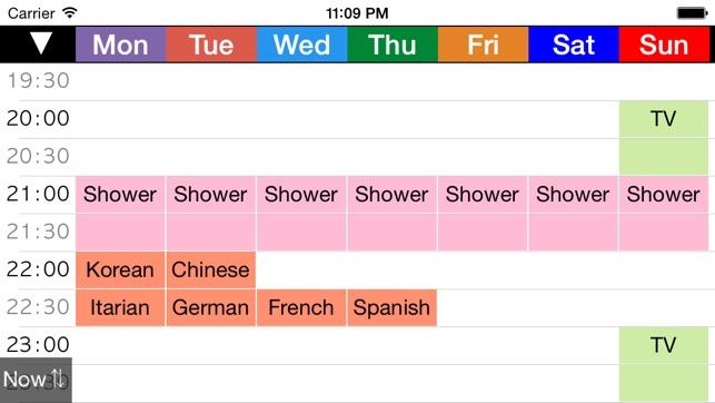 week schedule app