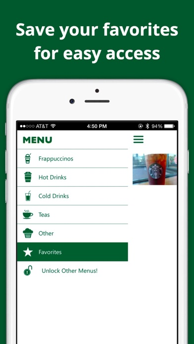 Secret Menu for Starbucks — Free | App Price Drops