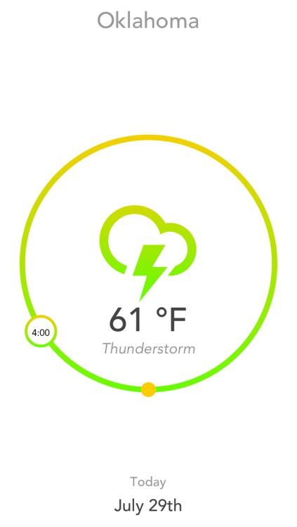 Aura - A Minimal Hourly Weather Forecast App screenshot-4