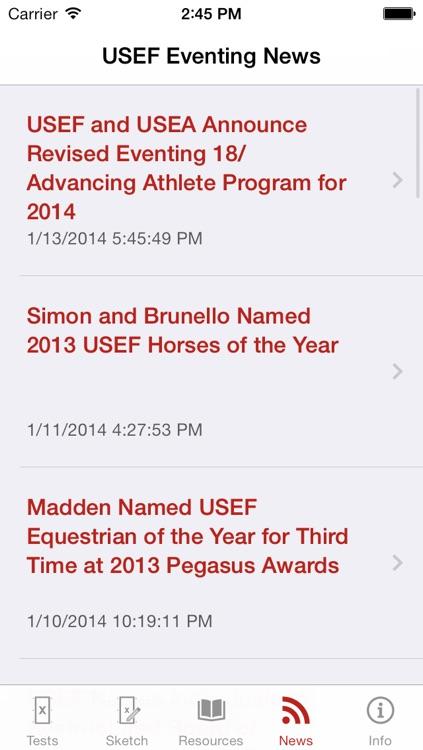 USEF EquiTests 4 - 2014 Eventing Dressage Tests screenshot-4