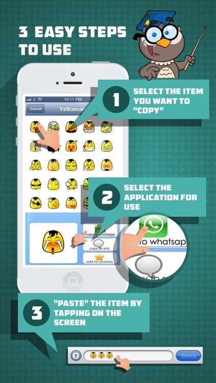 Whatsicons - Emoji Stickers, Emoticons, Text Pics for Whatsapp & Text Messaging screenshot-2