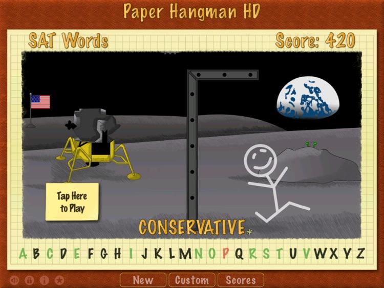 Paper Hangman HD screenshot-3
