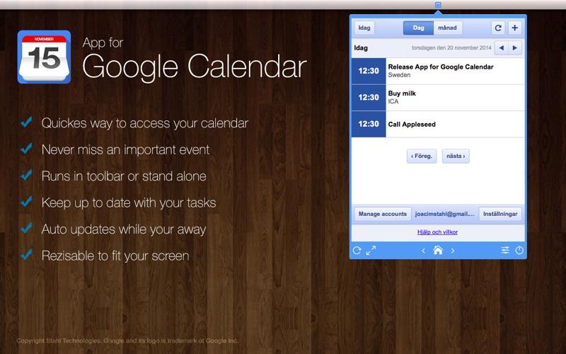 App For Google Calendar Toolbar Desktop Macgenius