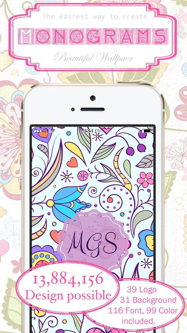 Monogram Wallpaper Maker App Price Drops