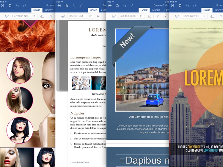 Templates for MS Word: Documents for iPad