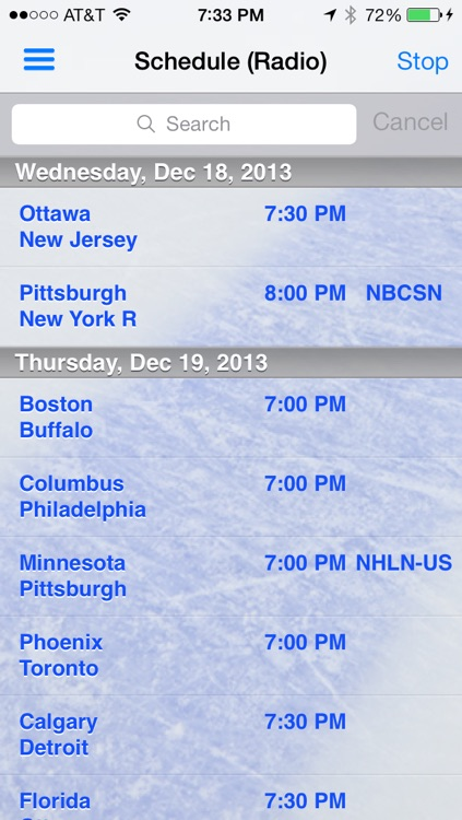 avLive - Pro Hockey Radio screenshot-0