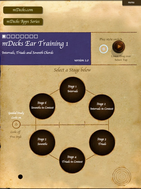 mDecks Ear Training 1 : Intervals, Triads & Sevenths