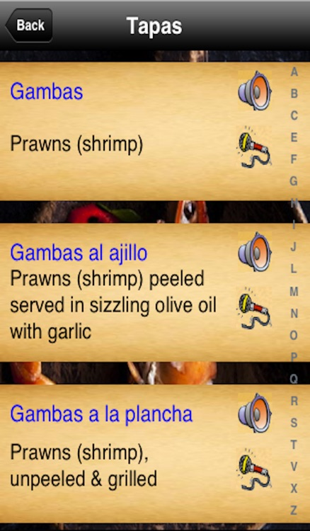 Tapas Menu screenshot-1