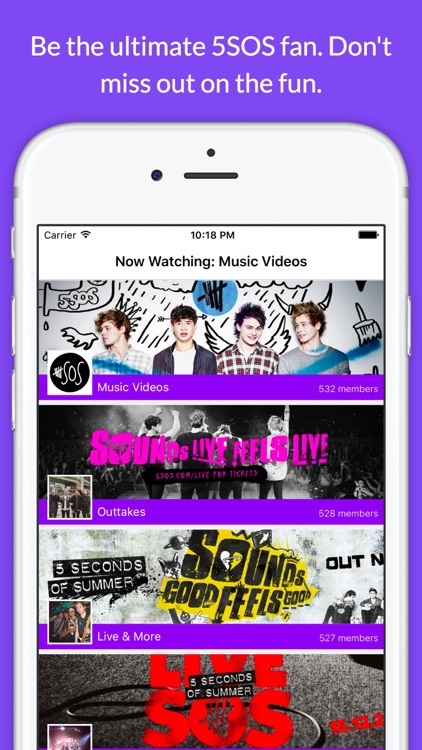 Fan Club - 5SOS Live Chat, Music, Videos App