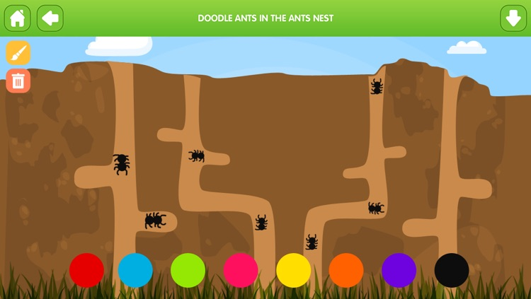 Doodle Fun Bugs Free - Preschool Coloring and Drawing Game for Kids screenshot-4