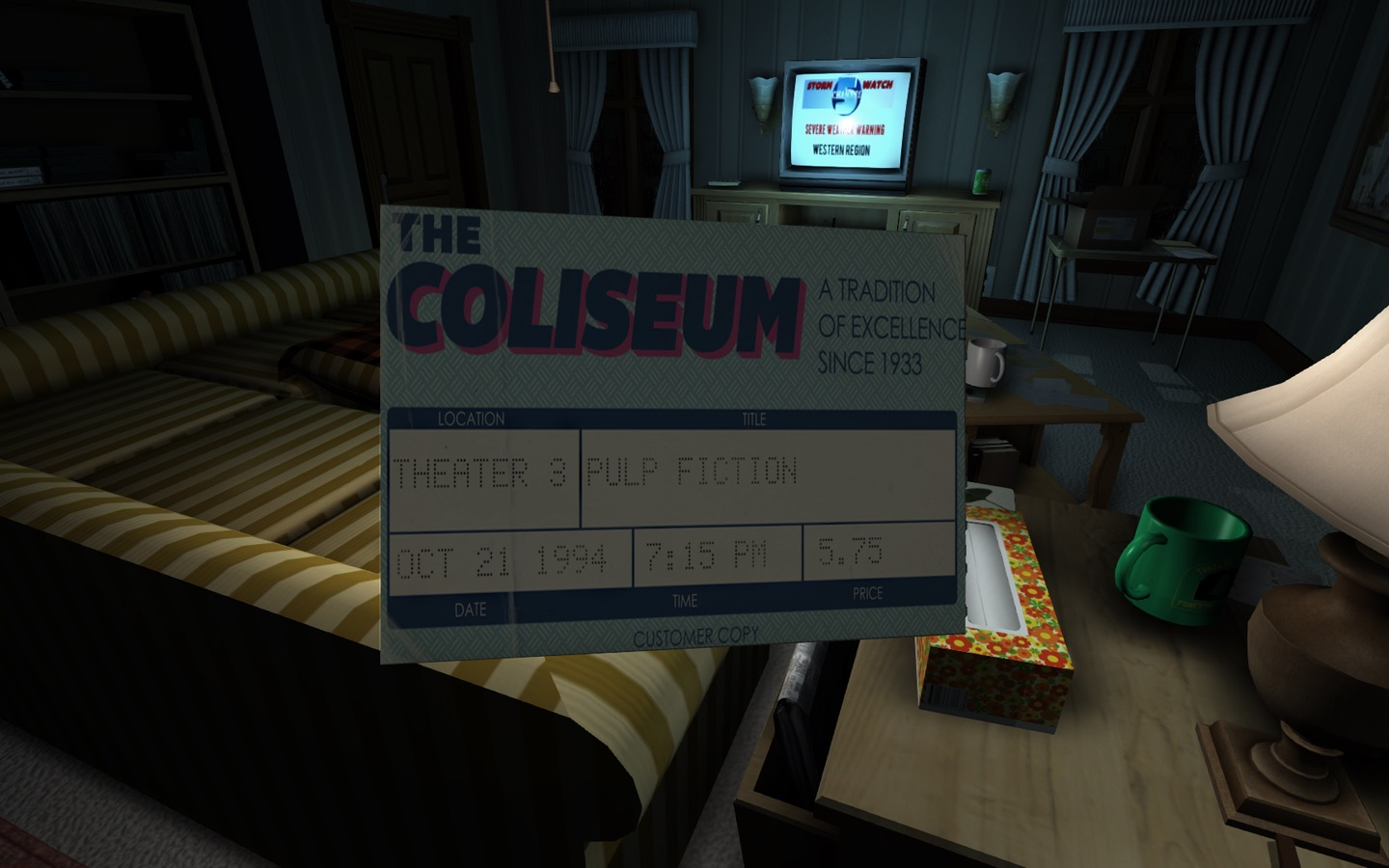 Screenshot do app Gone Home