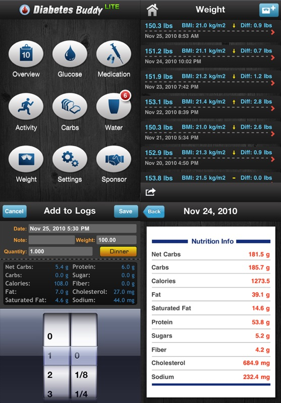 Diabetes App Lite - blood sugar control, glucose tracker and