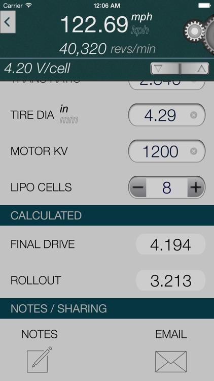 Gear Speed - Brushless RC Speed Calculator