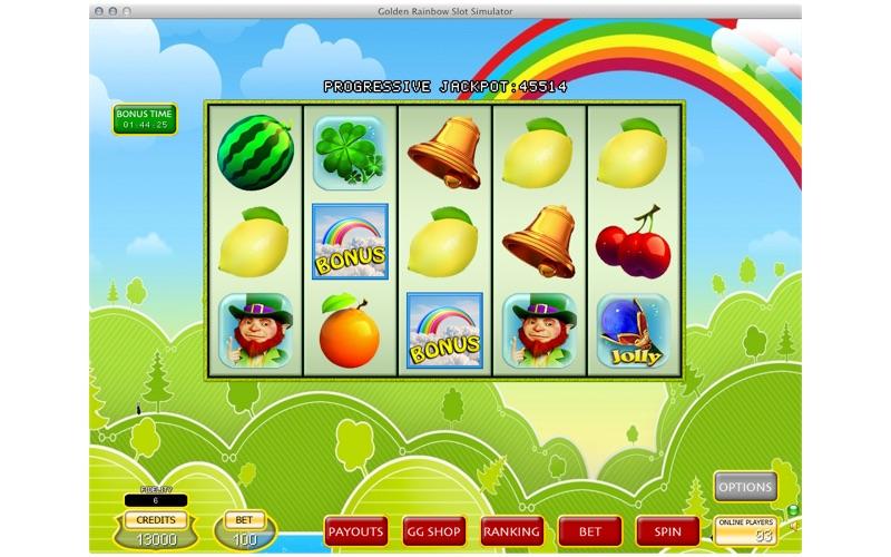 Golden Rainbow Slot Simulator screenshot 1
