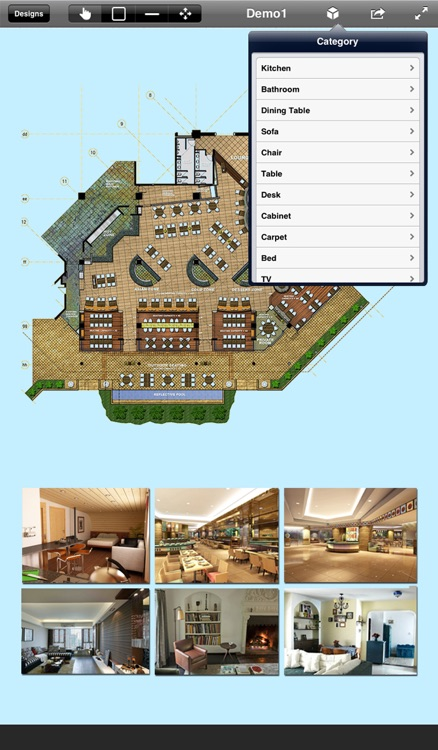 Home Office Design 3D- floor plan & draft design screenshot-3