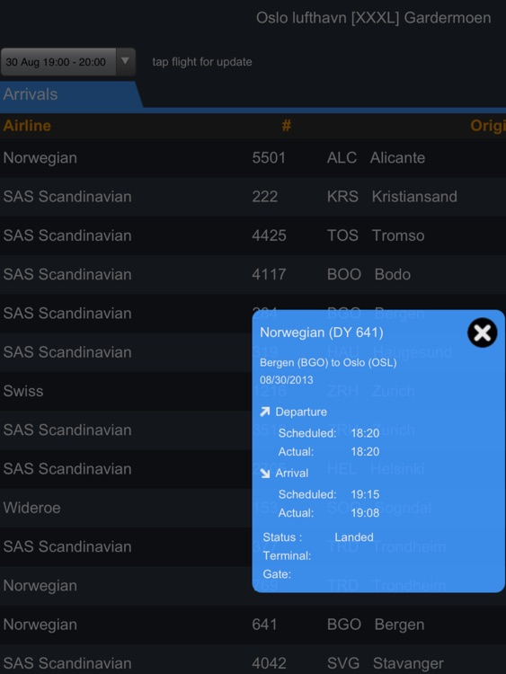 Oslo Airport Pro (OSL) + Flight Tracker HD screenshot-1