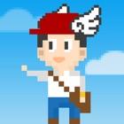 Pixel hombre escalera de escalada icon