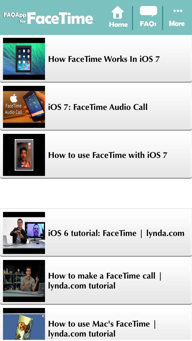 点击获取FAQApp for FaceTime