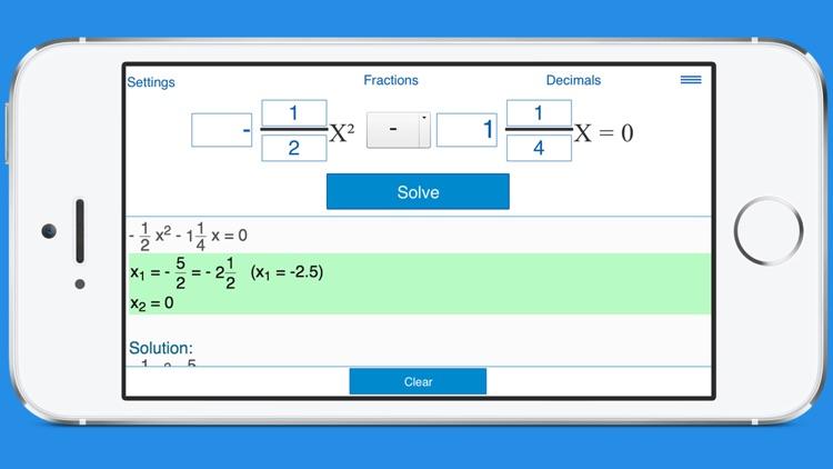 Quadratic Equation Calculator with Steps