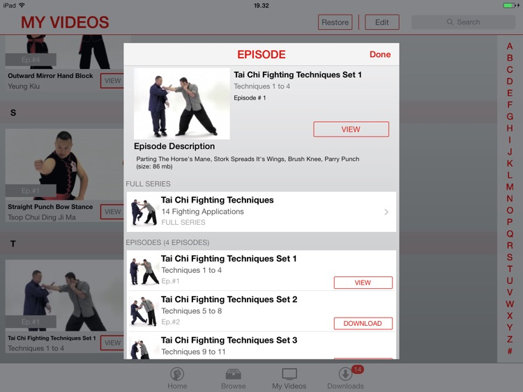 Martial Arts College: Video Lessons for iPad screenshot-4