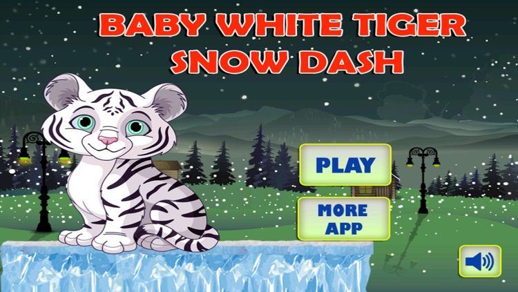 Baby White Tiger Snow Dash
