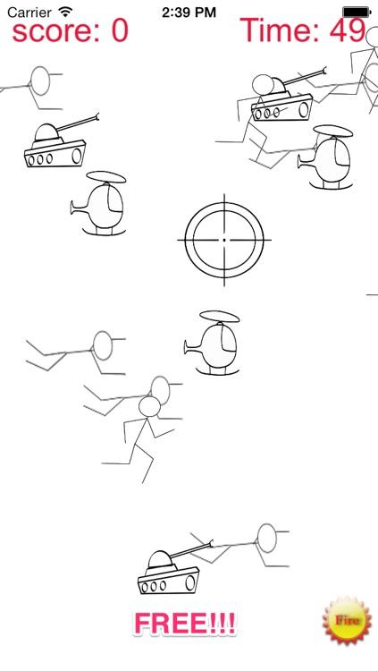 A Stickman Sniper 2: Doodle War Free screenshot-3