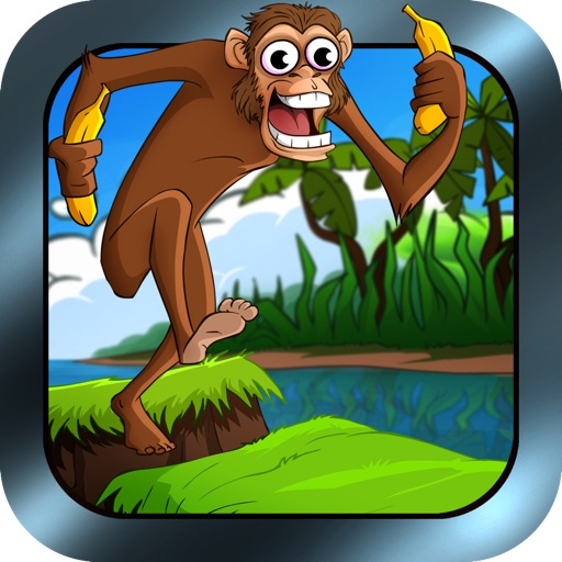 A Chimp Run Free - Top Monkey Jumping Adventure in the Jungle to gather Bananas iOS App