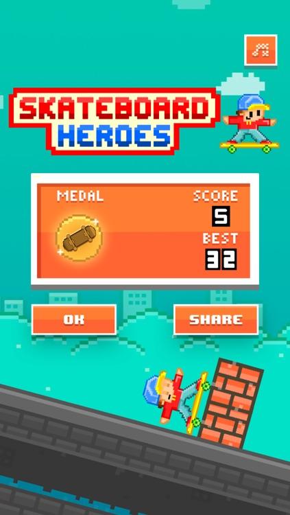 Skateboard Heroes - Play Pixel 8-bit Games for Free screenshot-3